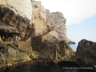 Stairs to Grotta di Nettuno