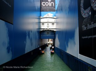 Bridge of Sighs with advertising