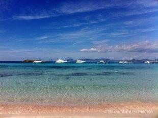 Formentera beach close up