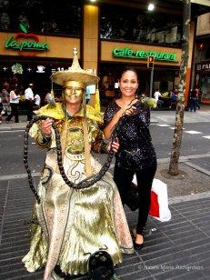 Street performer with Tina