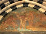 Fresco portraying the baptism of Christ