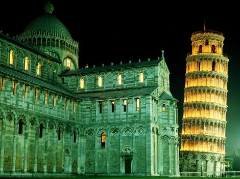 Leaning Tower at night