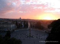 Piazza del Popolo at sun set