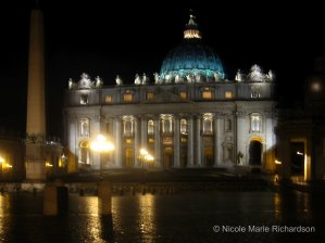 San Pietro at night