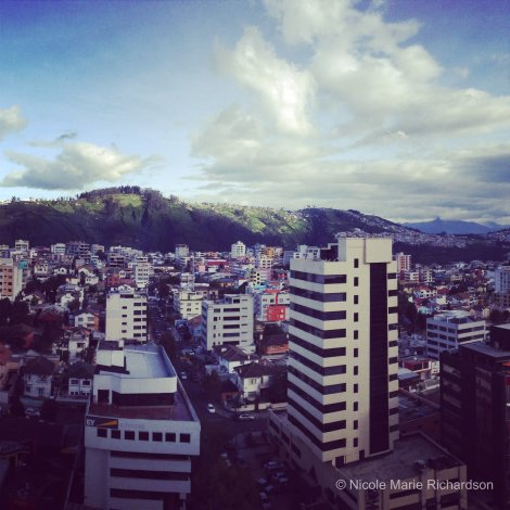 View of Quito from my hotel