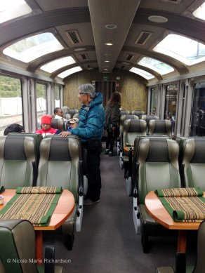Inside of train