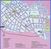 Cusco city center map