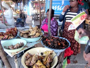 Some cooked chicken for sale
