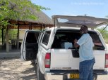 Tangeni with his truck