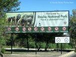 Etosha welcome sign